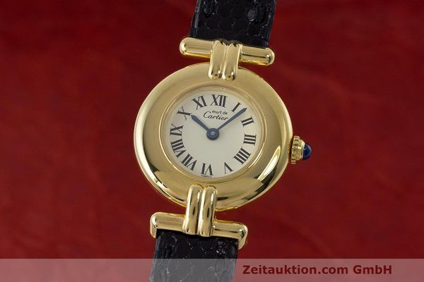 Used luxury watch Cartier Vermeil silver-gilt quartz Kal. 90  | 162517 04