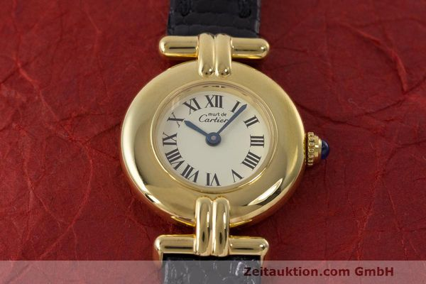Used luxury watch Cartier Vermeil silver-gilt quartz Kal. 90  | 162517 14