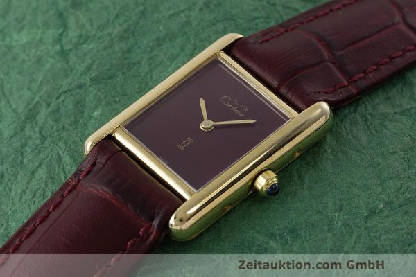 Used luxury watch Cartier Tank silver-gilt quartz Kal. 66  | 162519 01