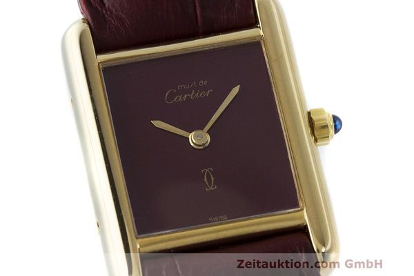 Used luxury watch Cartier Tank silver-gilt quartz Kal. 66  | 162519 02