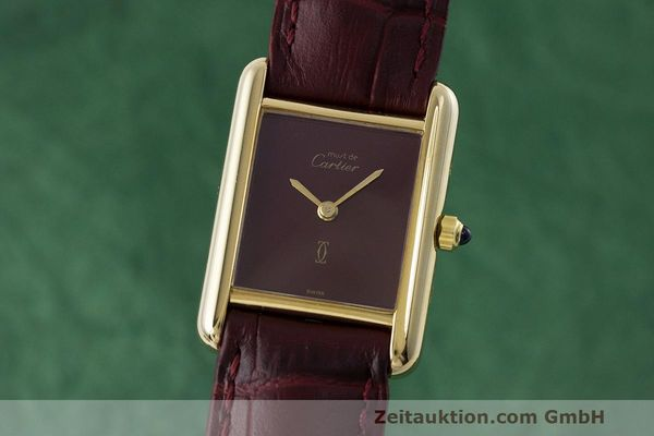 Used luxury watch Cartier Tank silver-gilt quartz Kal. 66  | 162519 04