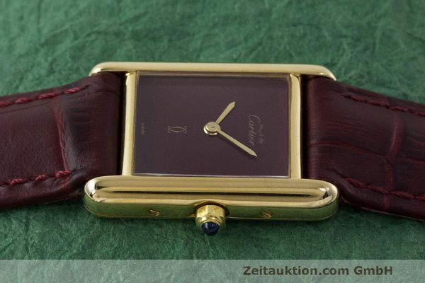 Used luxury watch Cartier Tank silver-gilt quartz Kal. 66  | 162519 05