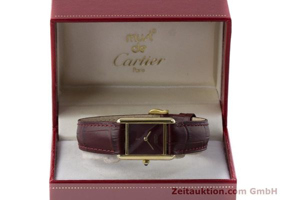Used luxury watch Cartier Tank silver-gilt quartz Kal. 66  | 162519 07