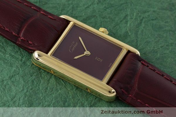 Used luxury watch Cartier Tank silver-gilt quartz Kal. 66  | 162519 12