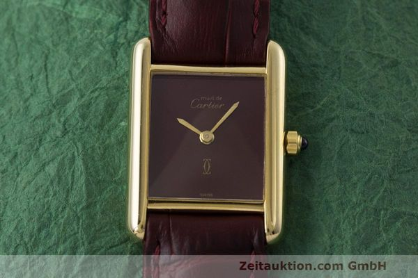 Used luxury watch Cartier Tank silver-gilt quartz Kal. 66  | 162519 13