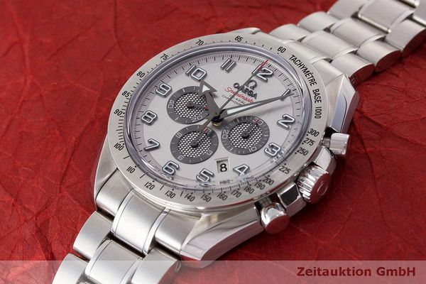 Used luxury watch Omega Speedmaster chronograph steel automatic Kal. 3313 Ref. 32110445002001  | 162535 01
