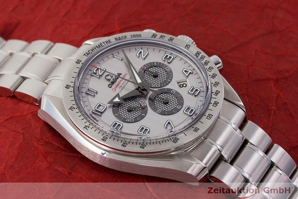 Used luxury watch Omega Speedmaster chronograph steel automatic Kal. 3313 Ref. 32110445002001  | 162535 16