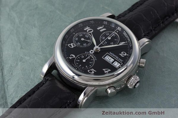 Used luxury watch Montblanc Meisterstück chronograph steel automatic Kal. 4810501 Ref. 7016  | 162554 01