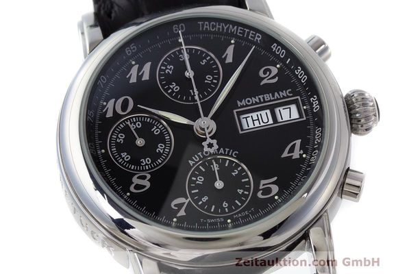 Used luxury watch Montblanc Meisterstück chronograph steel automatic Kal. 4810501 Ref. 7016  | 162554 02