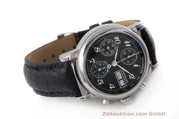 Used luxury watch Montblanc Meisterstück chronograph steel automatic Kal. 4810501 Ref. 7016  | 162554 03