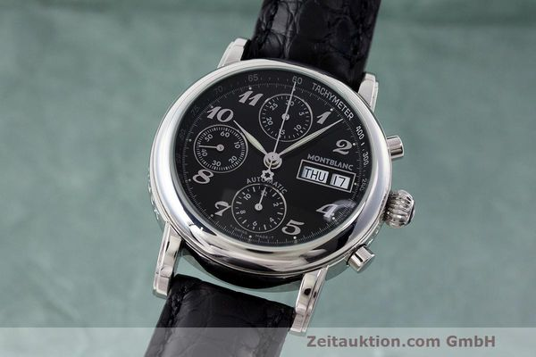 Used luxury watch Montblanc Meisterstück chronograph steel automatic Kal. 4810501 Ref. 7016  | 162554 04