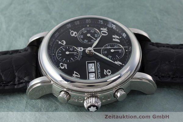Used luxury watch Montblanc Meisterstück chronograph steel automatic Kal. 4810501 Ref. 7016  | 162554 05
