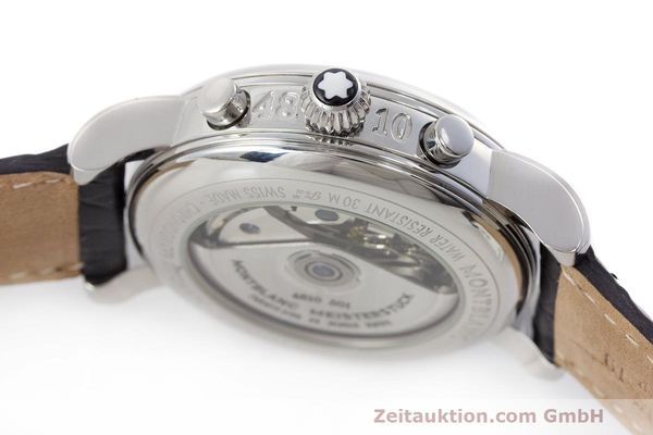 Used luxury watch Montblanc Meisterstück chronograph steel automatic Kal. 4810501 Ref. 7016  | 162554 08
