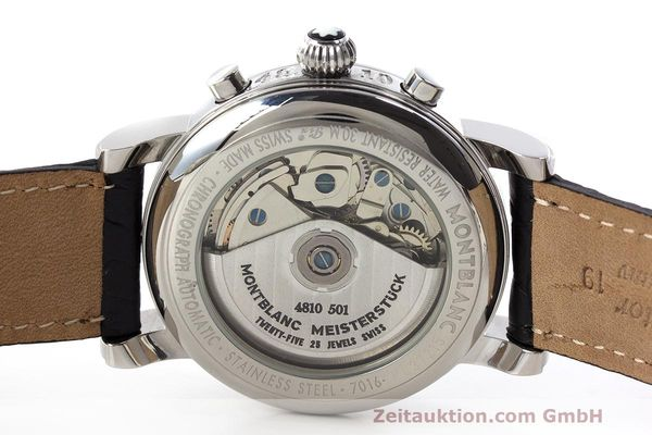 Used luxury watch Montblanc Meisterstück chronograph steel automatic Kal. 4810501 Ref. 7016  | 162554 09