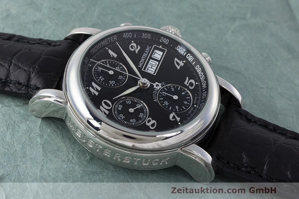 Used luxury watch Montblanc Meisterstück chronograph steel automatic Kal. 4810501 Ref. 7016  | 162554 13
