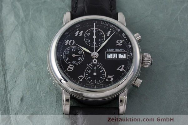 Used luxury watch Montblanc Meisterstück chronograph steel automatic Kal. 4810501 Ref. 7016  | 162554 14