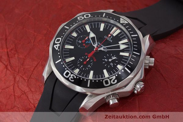 Used luxury watch Omega Seamaster chronograph steel automatic Kal. 3602 Ref. 28695091  | 162572 01