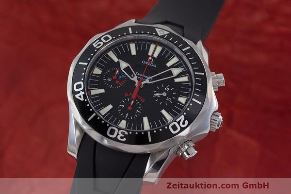 Used luxury watch Omega Seamaster chronograph steel automatic Kal. 3602 Ref. 28695091  | 162572 04