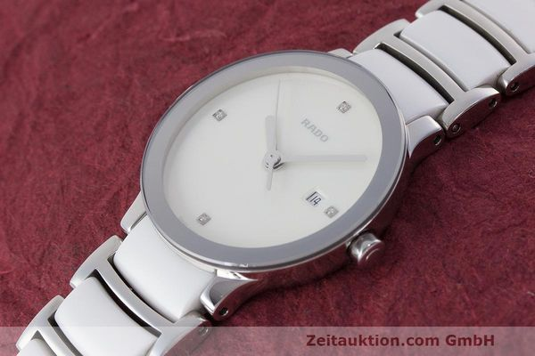 Used luxury watch Rado Centrix ceramic / steel quartz Kal. ETA 956.112 Ref. 111.0928.3  | 162574 01
