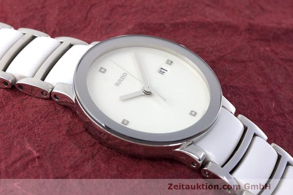 Used luxury watch Rado Centrix ceramic / steel quartz Kal. ETA 956.112 Ref. 111.0928.3  | 162574 13