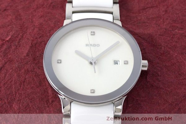 Used luxury watch Rado Centrix ceramic / steel quartz Kal. ETA 956.112 Ref. 111.0928.3  | 162574 14