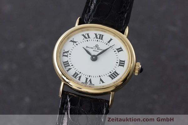 BAUME & MERCIER ORO DE 18 QUILATES CUERDA MANUAL KAL. BM775 [162587]