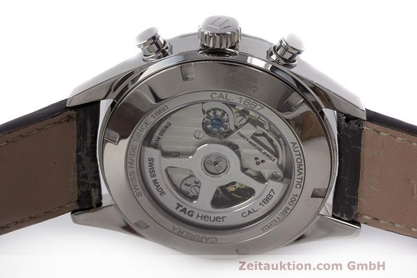 Used luxury watch Tag Heuer Carrera chronograph steel automatic Kal. 1887 Ref. CAR2013-2  | 162603 09