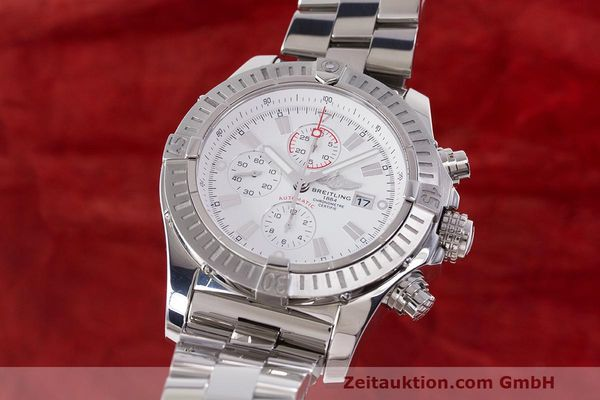 Used luxury watch Breitling Avenger chronograph steel automatic Kal. B13 ETA 7750 Ref. A13370  | 162607 04