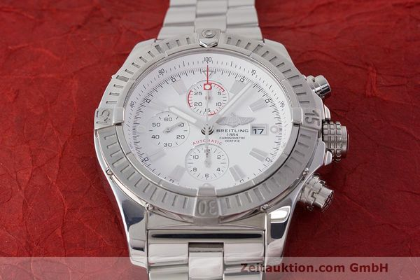 Used luxury watch Breitling Avenger chronograph steel automatic Kal. B13 ETA 7750 Ref. A13370  | 162607 18
