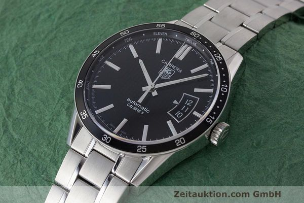 Used luxury watch Tag Heuer Carrera steel automatic Kal. 5 SW 200-1 Ref. WV211M-0  | 162612 01