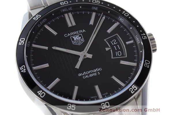 Used luxury watch Tag Heuer Carrera steel automatic Kal. 5 SW 200-1 Ref. WV211M-0  | 162612 02