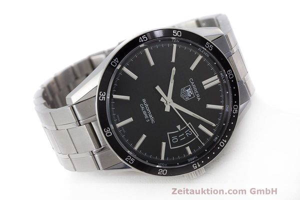 Used luxury watch Tag Heuer Carrera steel automatic Kal. 5 SW 200-1 Ref. WV211M-0  | 162612 03