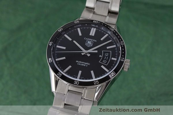 Used luxury watch Tag Heuer Carrera steel automatic Kal. 5 SW 200-1 Ref. WV211M-0  | 162612 04