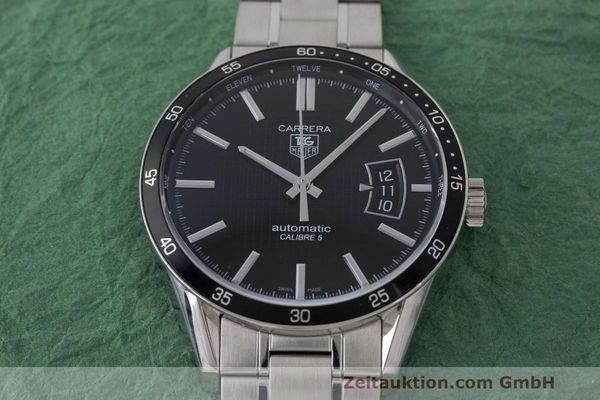 Used luxury watch Tag Heuer Carrera steel automatic Kal. 5 SW 200-1 Ref. WV211M-0  | 162612 17