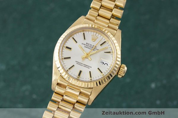 ROLEX LADY 18K (0,750) GOLD DATEJUST AUTOMATIK DAMENUHR 6917 VP: 20600,- EURO [162617]