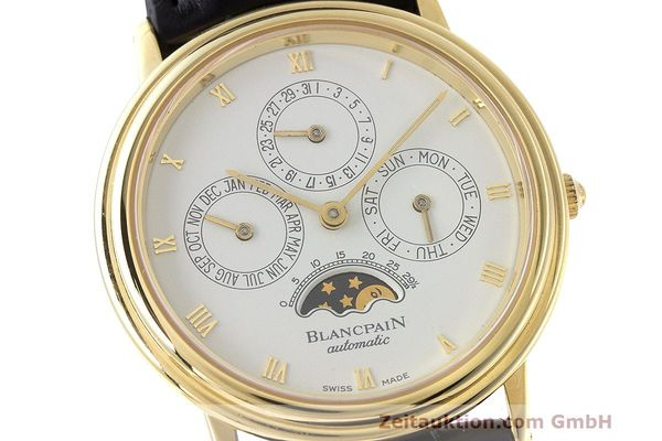 Used luxury watch Blancpain Villeret 18 ct gold automatic Kal. 95  | 162621 02