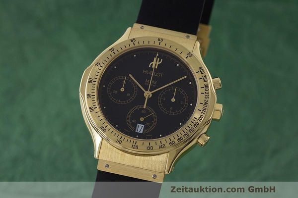 HUBLOT MDM CHRONOGRAPH 18 CT GOLD QUARTZ KAL. MDM 1270 LP: 26900EUR [162622]
