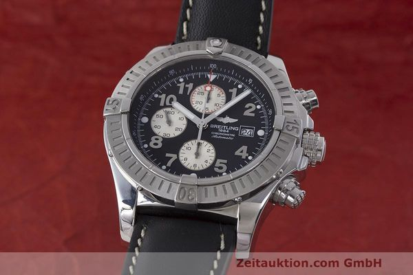 Used luxury watch Breitling Avenger chronograph steel automatic Kal. B13 ETA 7750 Ref. A13370  | 162658 04
