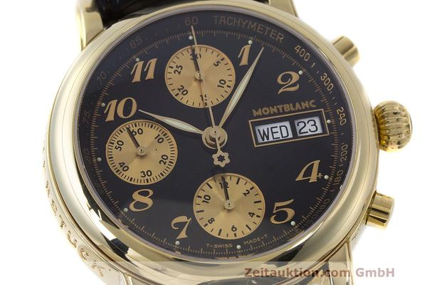 Used luxury watch Montblanc Meisterstück chronograph 18 ct gold automatic Kal. 4810501 ETA 7750 Ref. 7000  | 162669 02