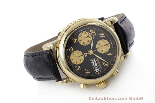 Used luxury watch Montblanc Meisterstück chronograph 18 ct gold automatic Kal. 4810501 ETA 7750 Ref. 7000  | 162669 03