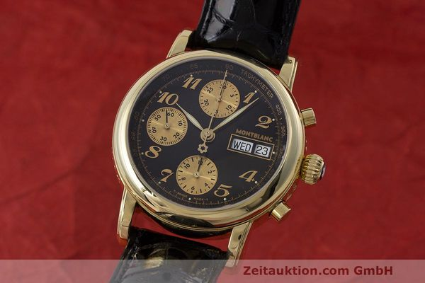 Used luxury watch Montblanc Meisterstück chronograph 18 ct gold automatic Kal. 4810501 ETA 7750 Ref. 7000  | 162669 04