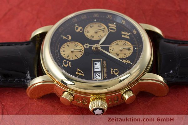Used luxury watch Montblanc Meisterstück chronograph 18 ct gold automatic Kal. 4810501 ETA 7750 Ref. 7000  | 162669 05