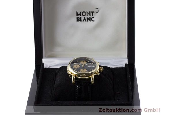 Used luxury watch Montblanc Meisterstück chronograph 18 ct gold automatic Kal. 4810501 ETA 7750 Ref. 7000  | 162669 07