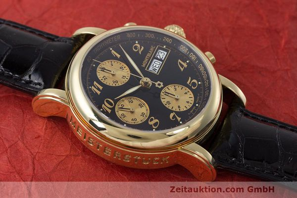 Used luxury watch Montblanc Meisterstück chronograph 18 ct gold automatic Kal. 4810501 ETA 7750 Ref. 7000  | 162669 14