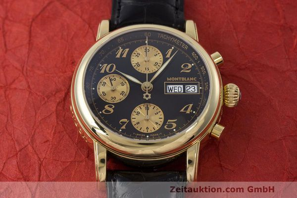 Used luxury watch Montblanc Meisterstück chronograph 18 ct gold automatic Kal. 4810501 ETA 7750 Ref. 7000  | 162669 15