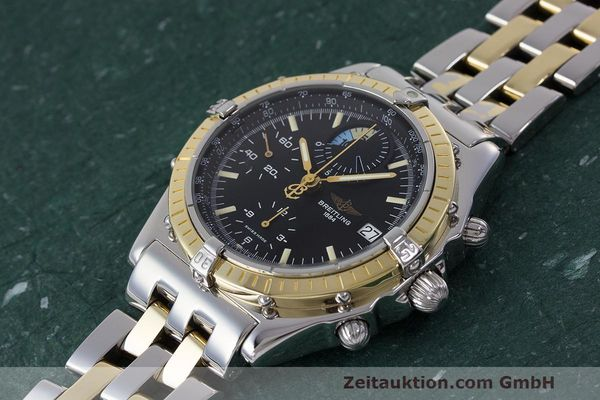 Used luxury watch Breitling Chronomat chronograph steel / gold automatic Kal. B13 ETA 7750 Ref. D13048  | 162674 01