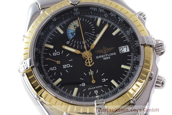 Used luxury watch Breitling Chronomat chronograph steel / gold automatic Kal. B13 ETA 7750 Ref. D13048  | 162674 02