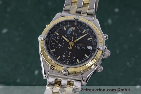 Used luxury watch Breitling Chronomat chronograph steel / gold automatic Kal. B13 ETA 7750 Ref. D13048  | 162674 04