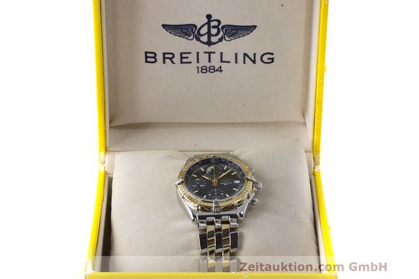 Used luxury watch Breitling Chronomat chronograph steel / gold automatic Kal. B13 ETA 7750 Ref. D13048  | 162674 07