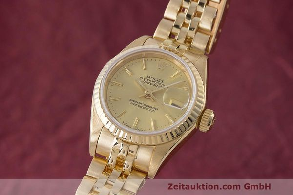ROLEX LADY 18K (0,750) GOLD DATEJUST AUTOMATIK DAMENUHR 69178 VP: 20600,- EURO [162679]